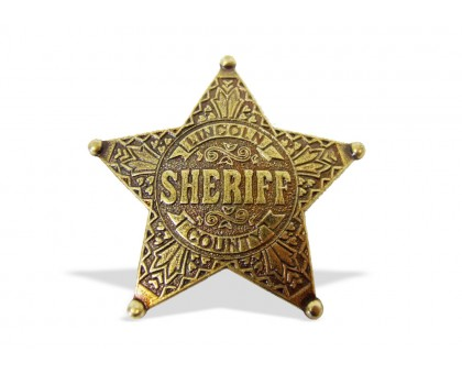 Значок Шерифа пятиконечный округа Линкольн