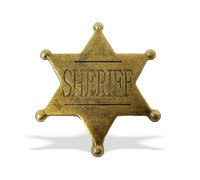 Значок Шерифа шестиконечный латунный