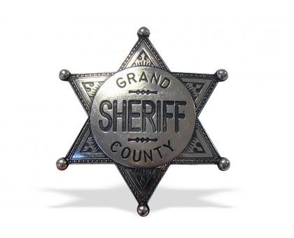 Значок окружного шерифа серебристый