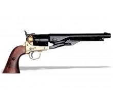 Револьвер Кольт 1860 год 44 калибр черный ствол