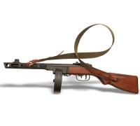 Автомат ППШ (пистолета-пулемёта Шпагина) с ремнем