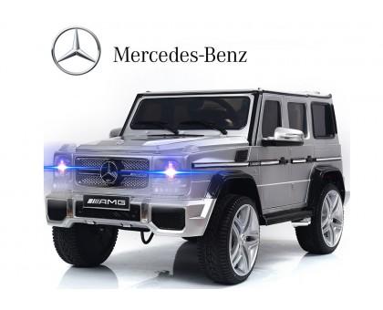 Детский электромобиль Mercedes Benz G65 AMG серебристый