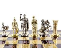 """Шахматный набор """"Греко-Римский"""" золото/серебро красная доска 44x44 см"""