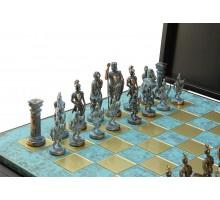 """Шахматный набор """"Греко-Римский"""" бронза/патина патинированная доска 44x44 см"""