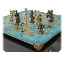 """Шахматный набор """"Греко-Римский"""" золото/бронза патинированная доска 44x44 см"""