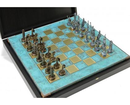 """Шахматный набор """"Греческая Мифология"""" бронза/патина патинированная доска 36x36 см"""