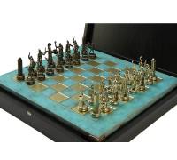 """Шахматный набор """"Греческая Мифология"""" золото/бронза патинированная доска 36x36 см"""