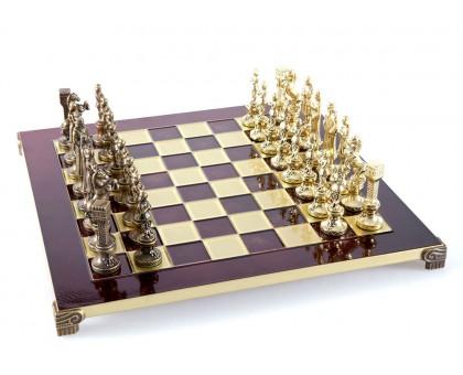 """Шахматный набор """"Ренессанс"""" золото/бронза красная доска 36x36 см"""