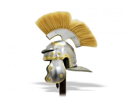 Шлем Центуриона светлый плюмаж