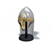 Норманнский шлем с кольчужной защитой латунь