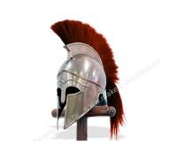 Шлем коринфский с красным плюмажем
