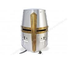 Шлем крестоносца с медной отделкой