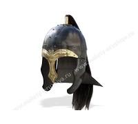 Шлем Шпангенхельм кавалерийский с черным хвостом