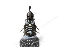 Кираса бронежилет мускульный с Троянским шлемом