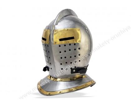 Шлем Турнирный рыцарский с шейной защитой