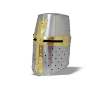 Шлем крестоносца с латунной отделкой