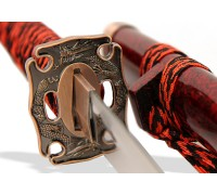 Меч Катана ножны бордовый мрамор
