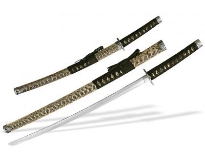 Набор самурайских мечей под змеиную кожу