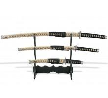 Набор самурайских мечей 3 шт. под змеиную кожу