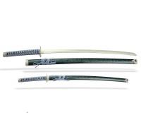 Набор самурайских мечей 2 шт. ножны зеленый мрамор