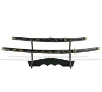 Набор самурайских мечей 2 шт. ножны сине-желтые