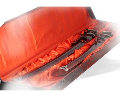 Набор подарочный самурайских мечей бордовый мрамор