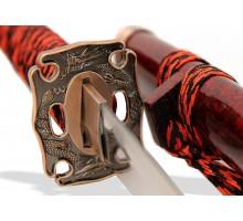 Набор самурайских мечей 3 шт. бордовый мрамор