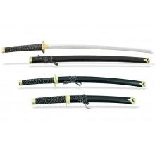 Набор самурайских мечей 3 шт. под золото