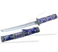 Японский нож Танто серебристо-синий
