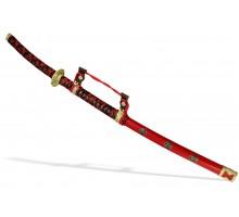 Самурайский меч Тати красный