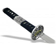 Вакидзаси классический меч синие ножны
