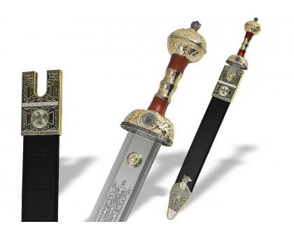 Меч Гладиус с ножнами золото