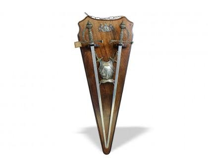 Трофей панно с 2-мя мечами
