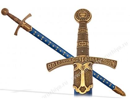 Меч средневековый 14 в. Франция синие ножны