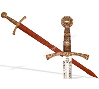 Меч средневековый 14 в. Франция кожаные ножны