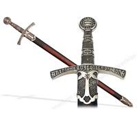 Меч средневековый 14 в. Франция черные ножны