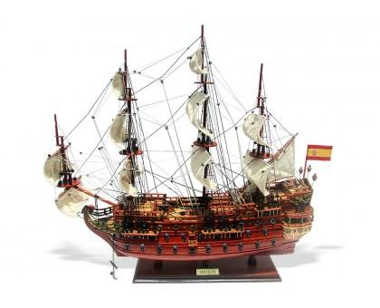 """Модель корабля """"Сан Фелипе"""" средний Испания"""
