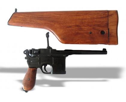 Пистолет Маузер к-96 с деревянным прикладом-кобурой
