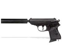 Пистолет Вальтер ППК (Walther PPK) с глушителем