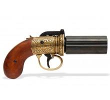 Револьвер Пепербокс 1840 года золотой