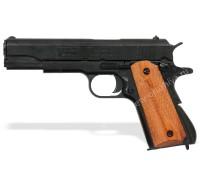 Пистолет Кольт м1911а1 45 калибра (Colt m1911a1) деревянные накладки с насечками разборный