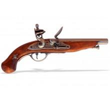 Пистолет кремневый пиратский Франция 18 в. латунь