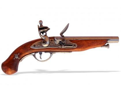 Пистолет кремневый пиратский Франция 18 в.