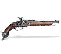 Перкуссионный пистолет Brescia 1825 г. хром