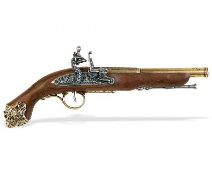 Пистоль кремневый 18 в. классический латунь