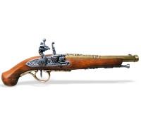 Пистоль кремниевый 18 в. классический латунь