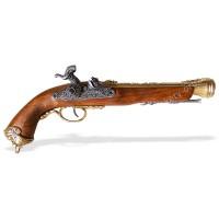 Пистолет капсюльный пиратский Италия 18 в. латунь