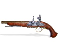 Пистолет кремневый под левую руку 18 в. латунь
