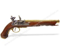 Пистоль дуэльный кремневый 1810 г. латунь