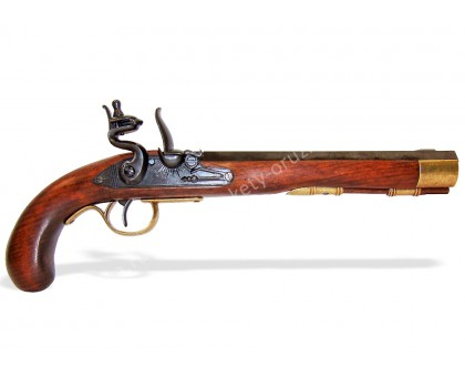 Пистолет кремниевый Кентукки США 19 в. латунь
